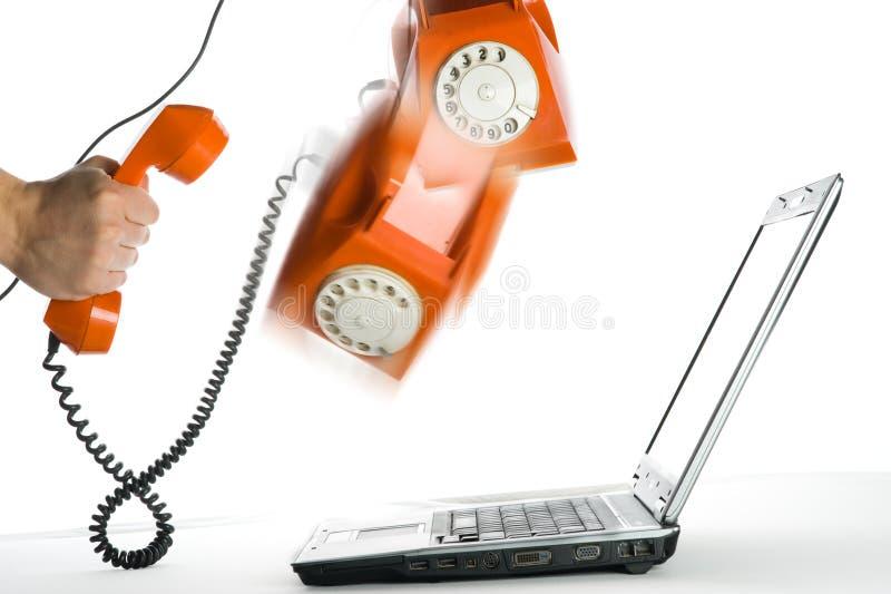 téléphone abstrait d'orange d'action images libres de droits