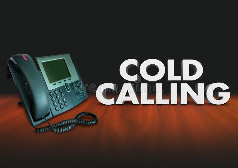 Téléphone appelant froid Solcititation vendant des clients de ventes illustration de vecteur