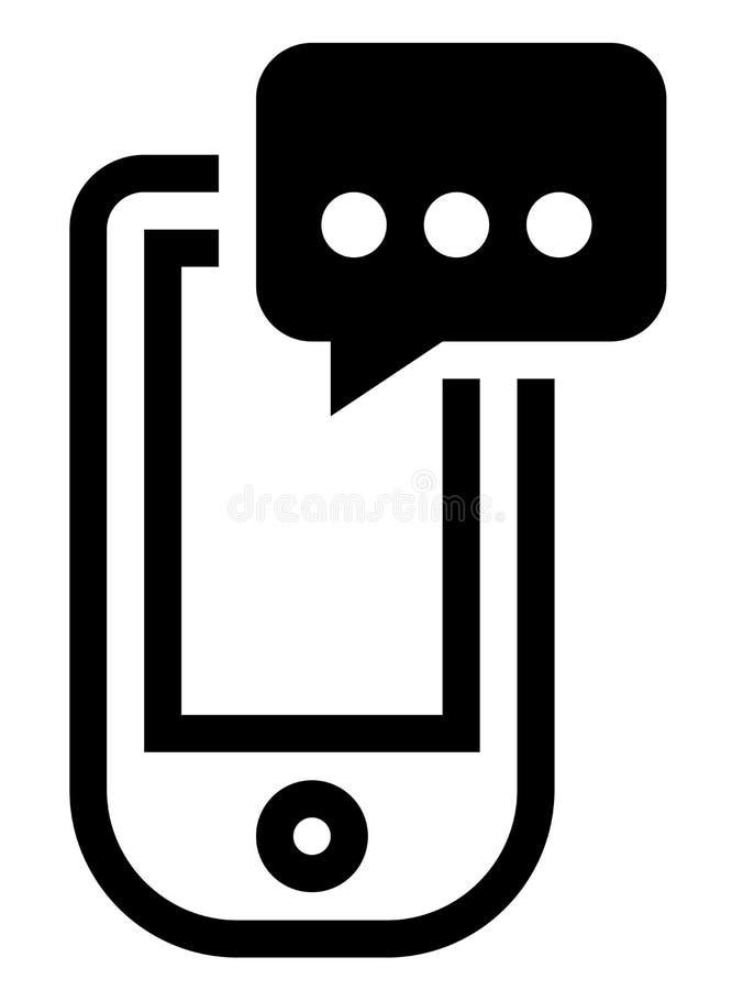 Téléphone avec l'icône de message illustration de vecteur