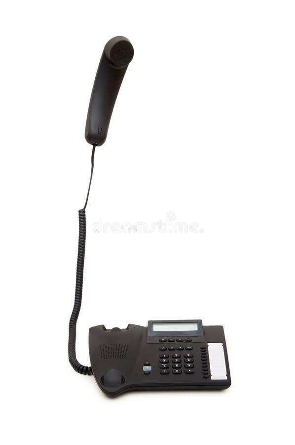 Téléphone avec le récepteur s'arrêtant photographie stock libre de droits