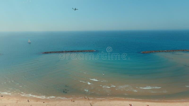 Téléphone Aviv Beach photos libres de droits