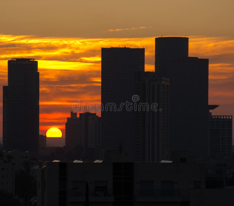 Téléphone Aviv Sunset photos stock