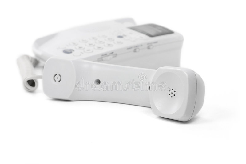 Téléphone blanc photo stock