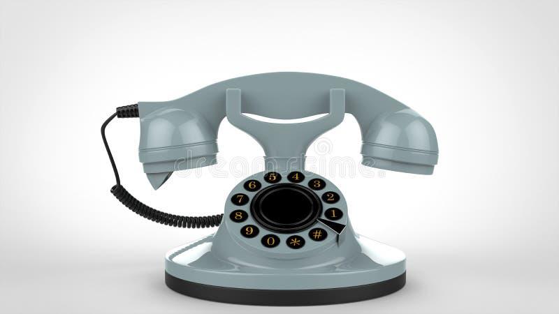 Téléphone bleu-clair de vintage illustration stock