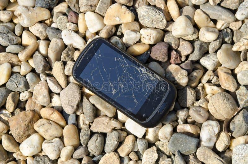 Téléphone cassé photos libres de droits