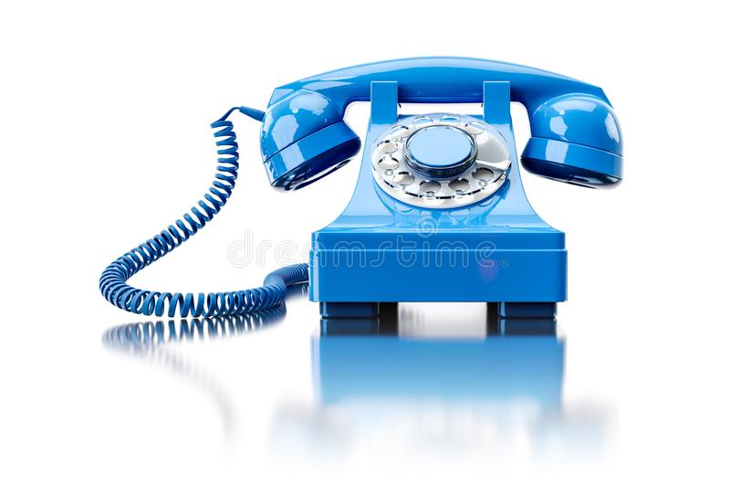 téléphone commuté de vieille turquoise illustration libre de droits