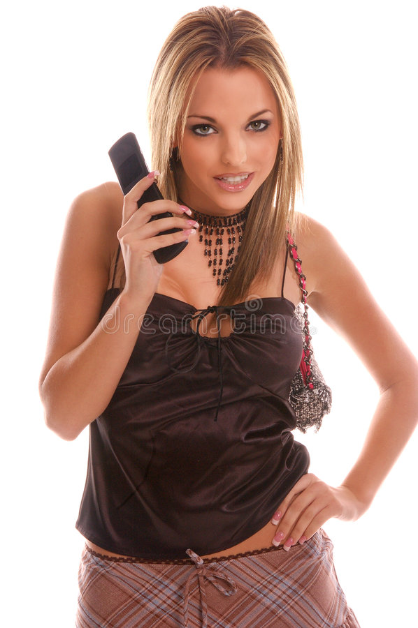 Téléphone d'appareil-photo de fille de charme images stock
