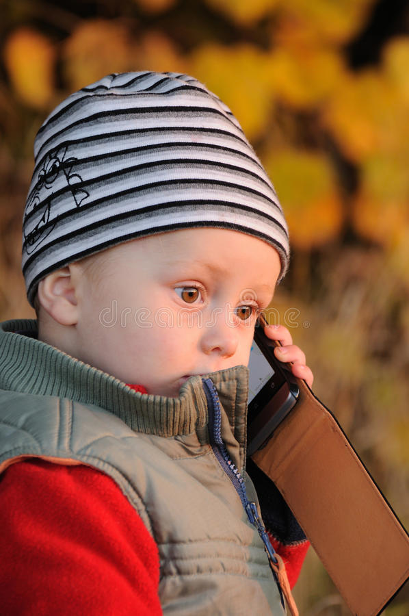 Téléphone d'enfant image libre de droits