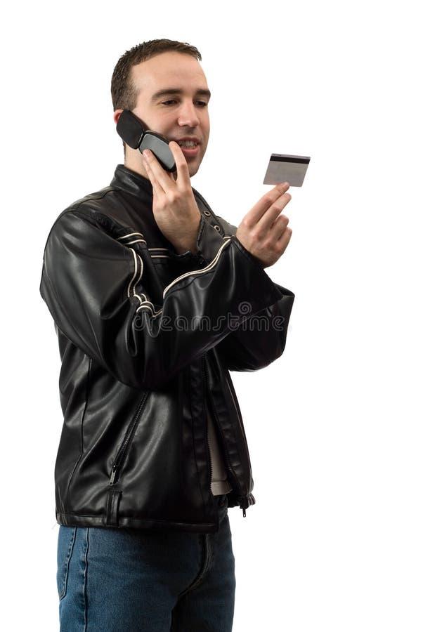 téléphone d'opérations bancaires image stock