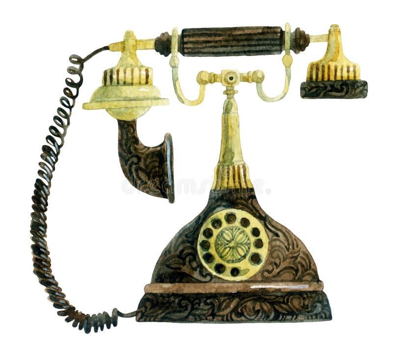 Téléphone dans le rétro style photos libres de droits