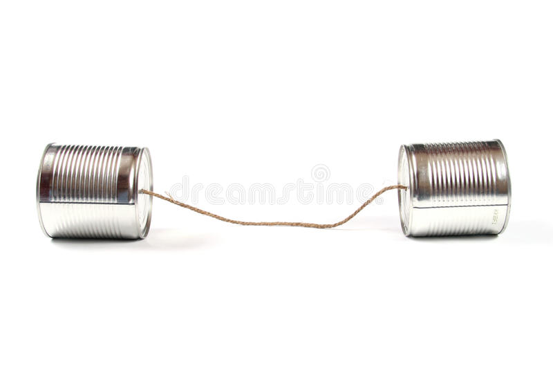 Téléphone de boîte en fer blanc photos libres de droits