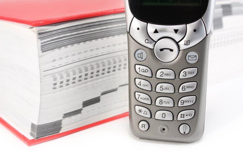 téléphone de carnet d'adresses images stock