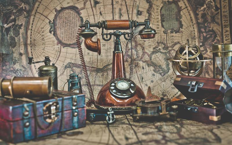 Téléphone de composition tournant de classique de vintage photo libre de droits