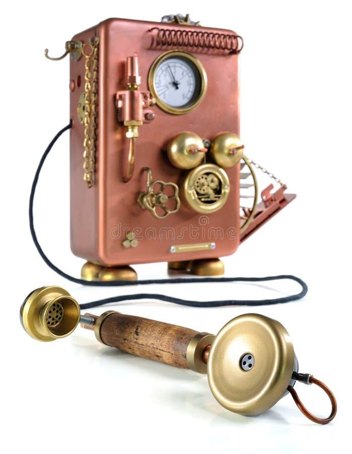 Téléphone de cuivre. photos libres de droits