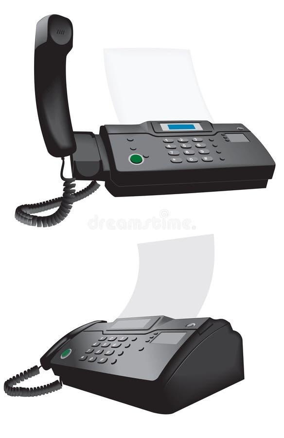 téléphone de fax illustration de vecteur
