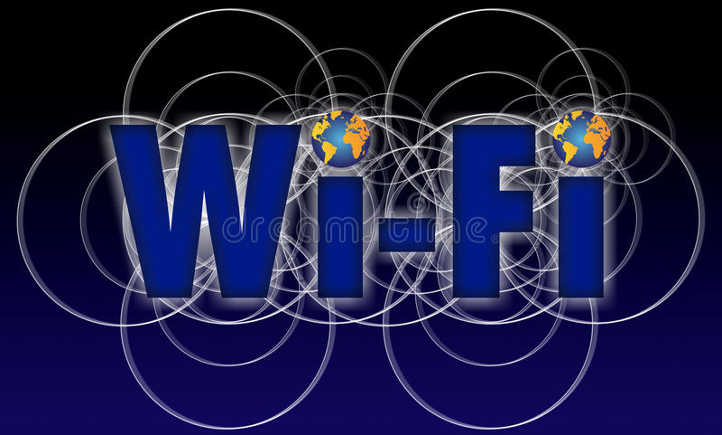 Téléphone de graphisme de WI fi illustration libre de droits