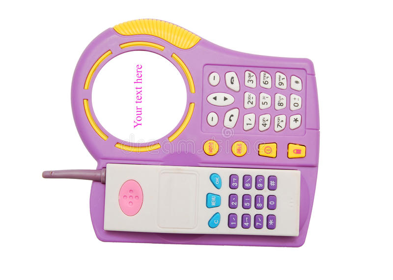 téléphone de jouet photos stock
