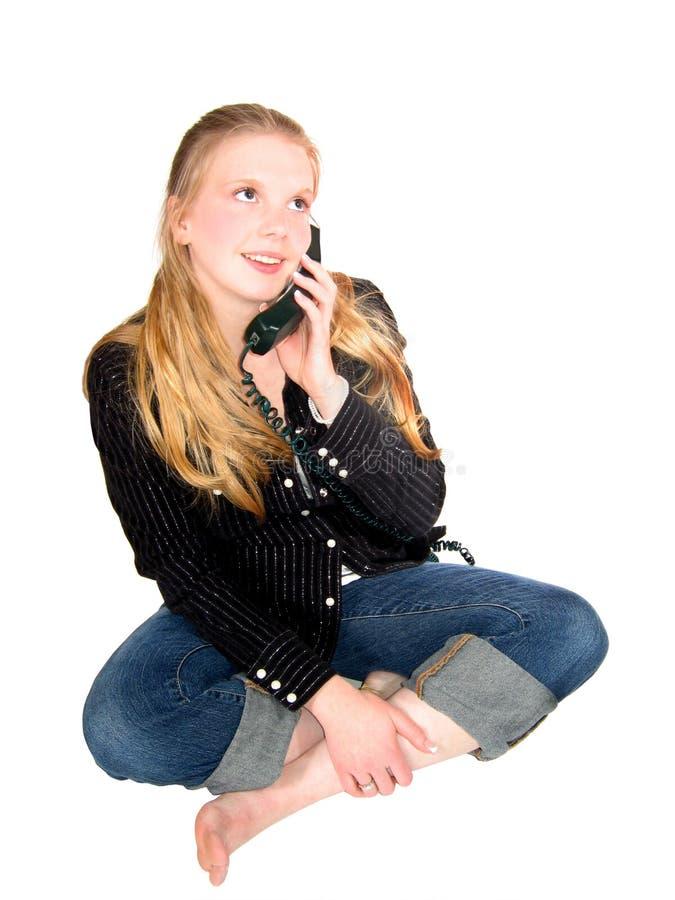 Téléphone de l'adolescence de fille image stock