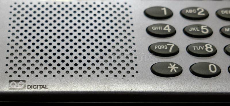 Téléphone de ligne terrestre de bouton avec le répondeur photographie stock libre de droits