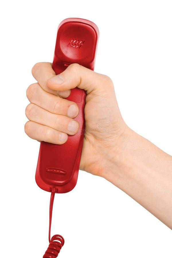 téléphone de main d'appel photos libres de droits