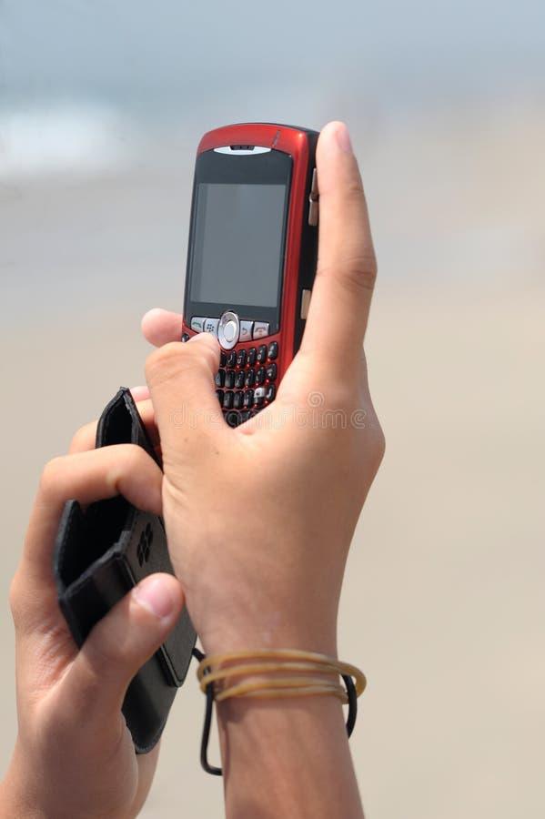 téléphone de main de cellules photographie stock