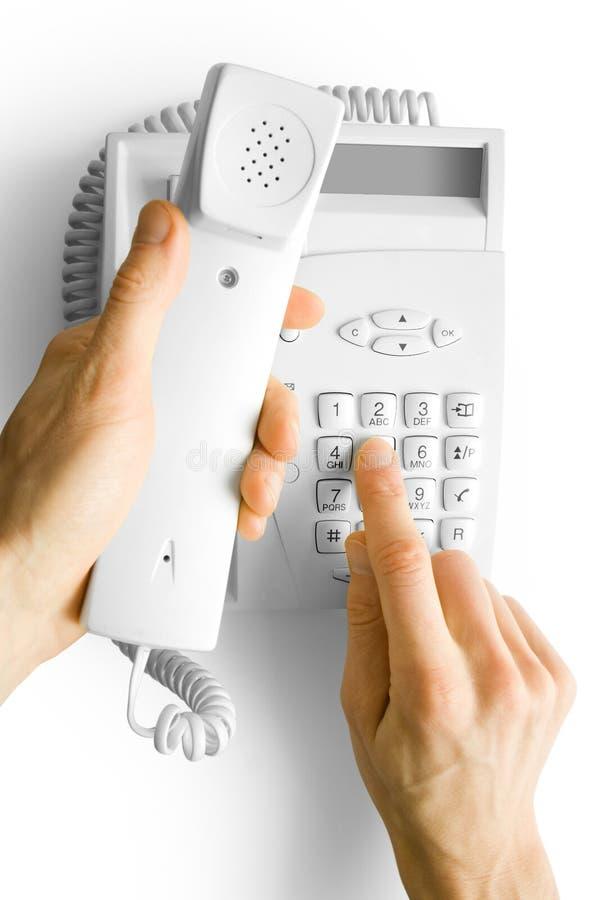 téléphone de mains image stock