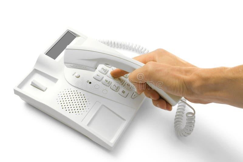 téléphone de mains photographie stock libre de droits