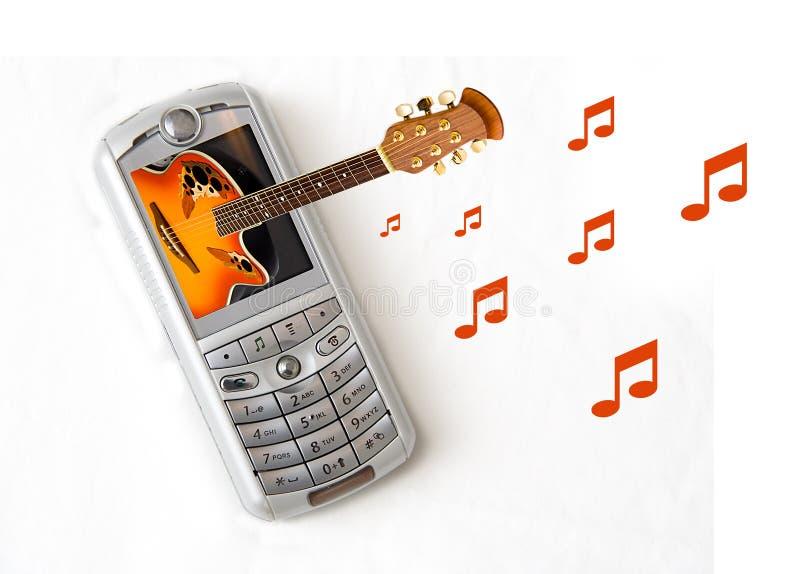 Téléphone de musique photographie stock libre de droits