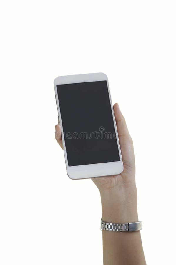 Téléphone de participation de main images libres de droits