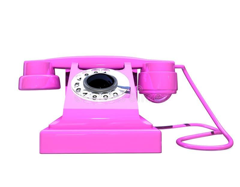 Téléphone de Rose illustration stock