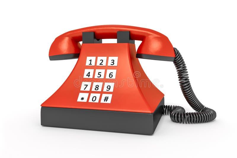 Téléphone de rouge de style ancien illustration libre de droits