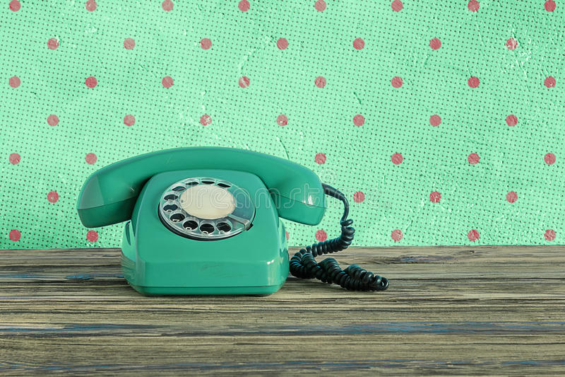 Téléphone de vintage photo libre de droits