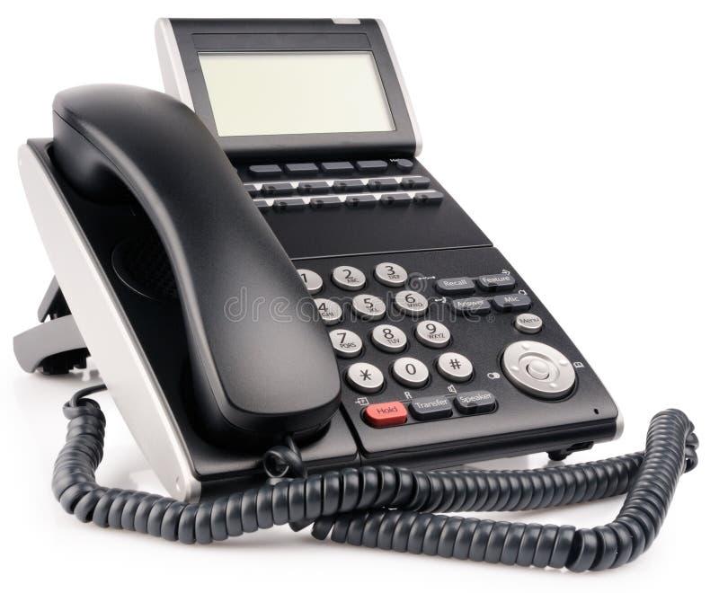 Téléphone digital de bureau avec l'affichage à cristaux liquides photo libre de droits