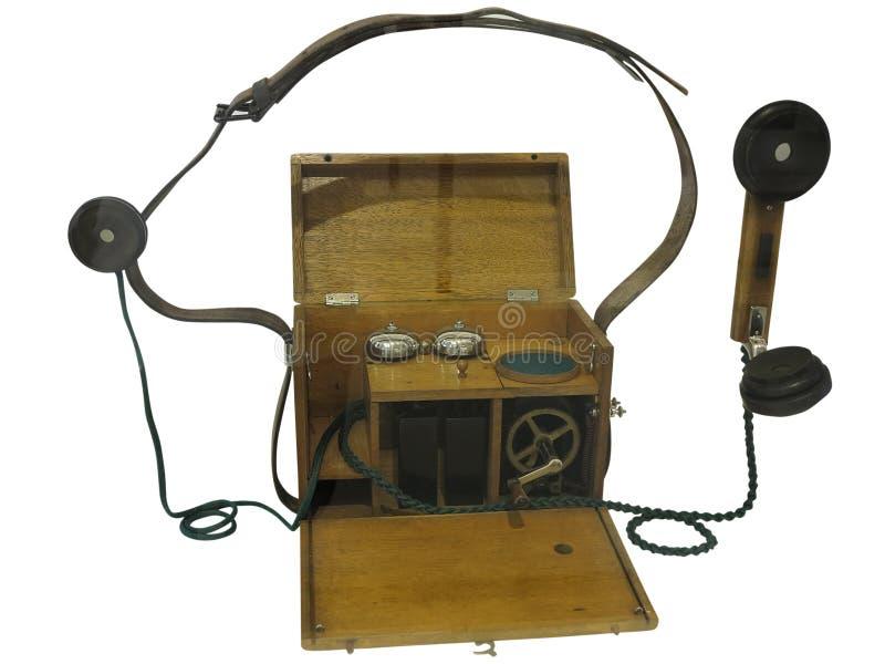 Téléphone en bois de vintage antique depuis le début 20 du siècle, I photo libre de droits
