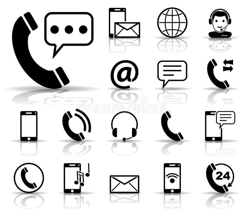 Téléphone et communication - Iconset - icônes illustration libre de droits
