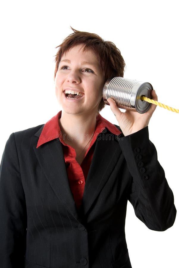 Téléphone heureux image libre de droits