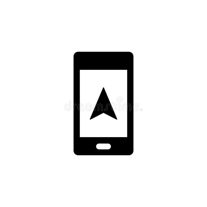 Téléphone, icône de vecteur de curseur Illustration simple d'?l?ment de concept d'UI Illustration mobile de vecteur de concept Té illustration de vecteur