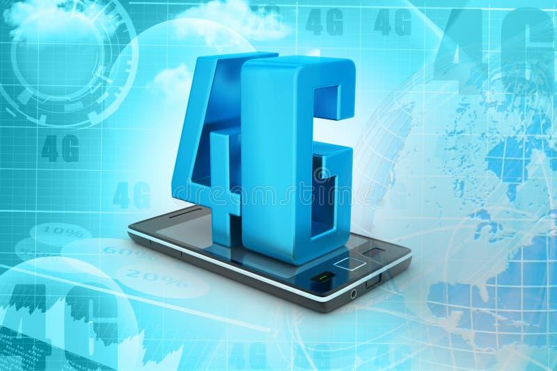 Téléphone intelligent avec 4G illustration de vecteur