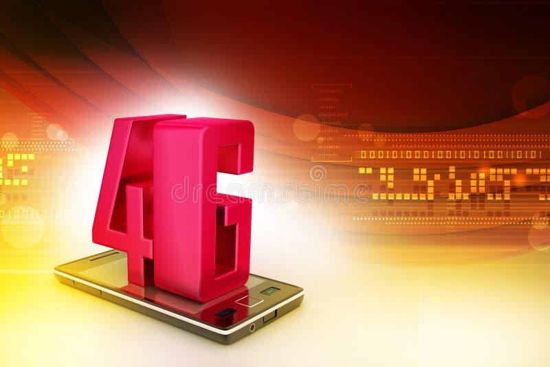 Téléphone intelligent avec 4G illustration libre de droits