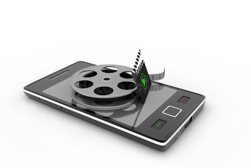 Téléphone intelligent avec la bobine illustration libre de droits