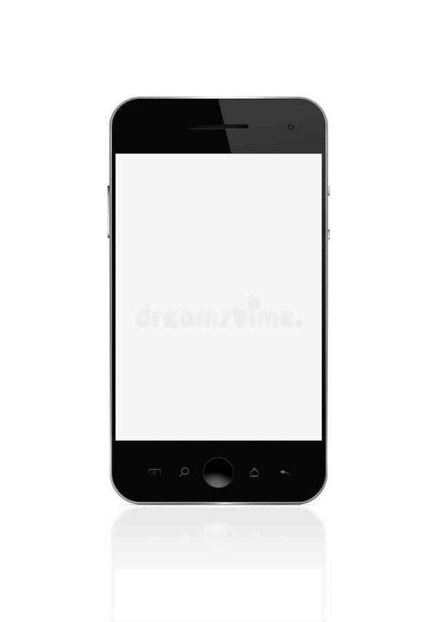 Téléphone intelligent blanc avec le chemin de découpage illustration stock