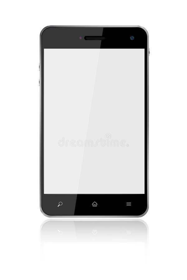 Téléphone intelligent d'écran tactile sur le fond blanc illustration libre de droits