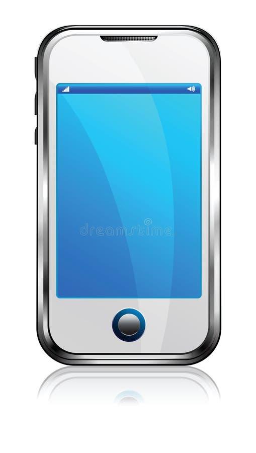 Téléphone intelligent de cellules d'écran tactile illustration libre de droits