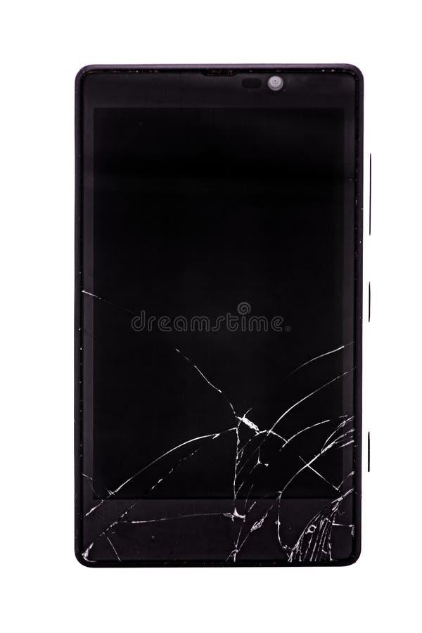 Téléphone intelligent de texture de fond avec l'écran cassé photographie stock
