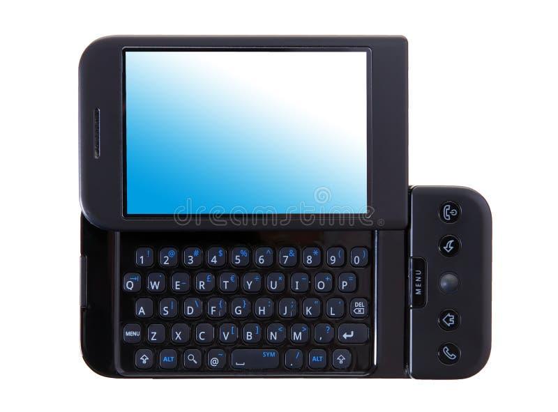 Téléphone intelligent en plan rapproché photographie stock