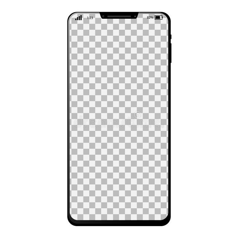 Téléphone intelligent générique avec pleine page illustration stock