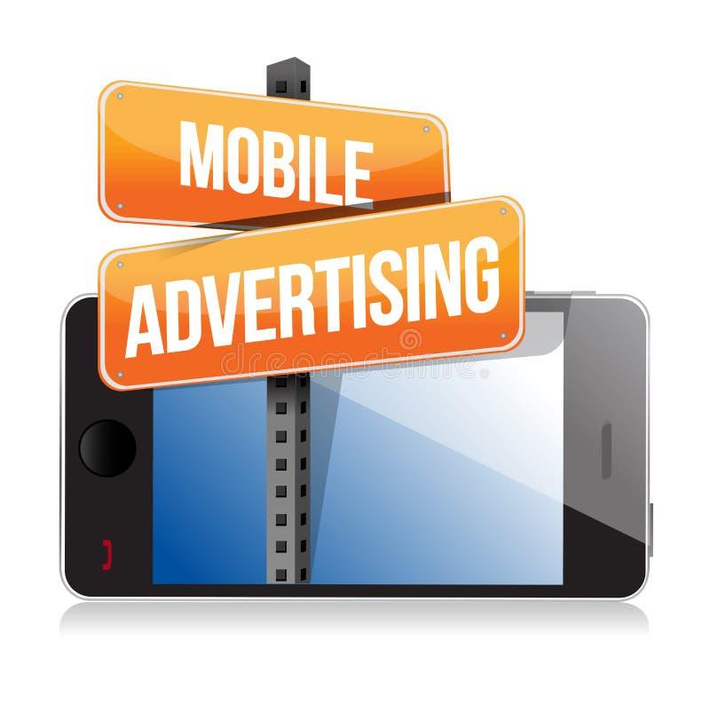 Téléphone intelligent mobile. Signe de publicité mobile illustration stock