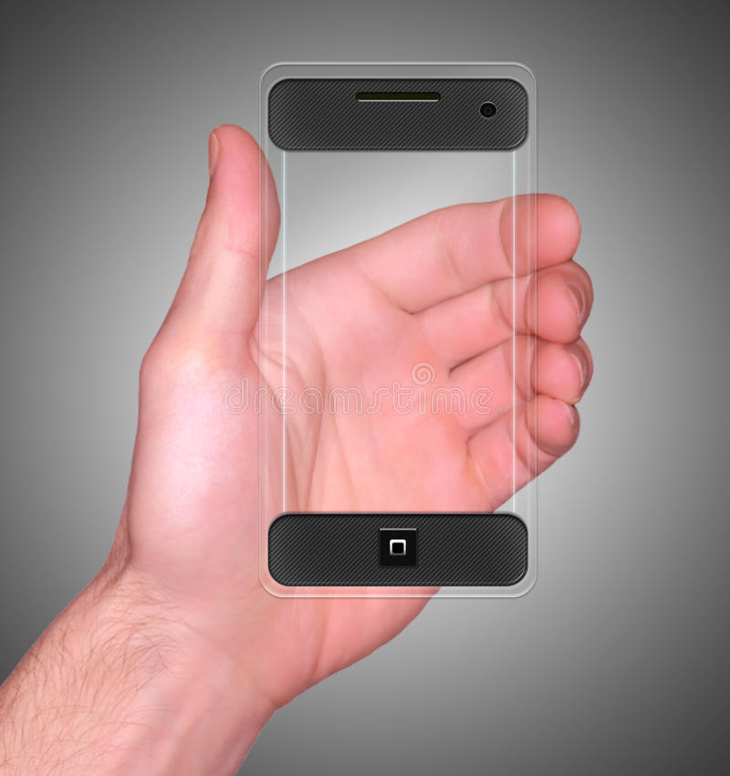Téléphone intelligent mobile transparent images libres de droits