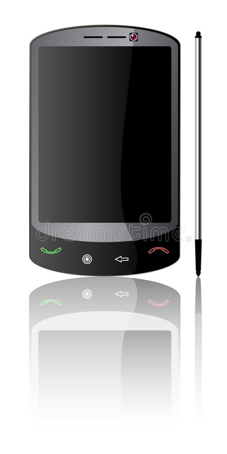 Téléphone intelligent moderne illustration stock