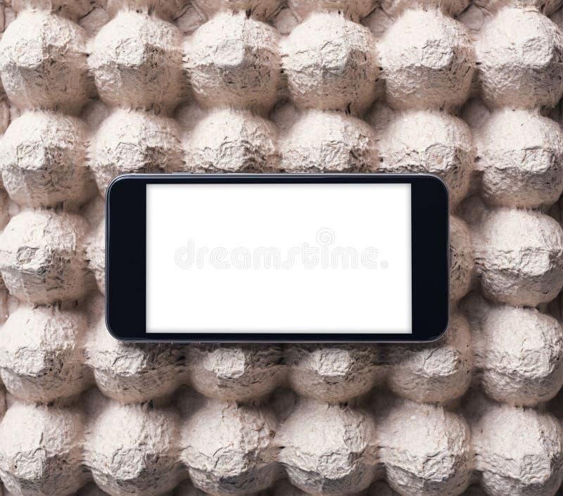 Téléphone intelligent noir Chemin de coupure inclus photo libre de droits